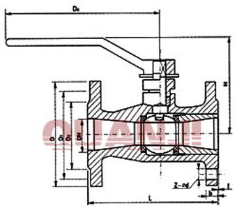 qq41m不锈钢高温整体式球阀图片
